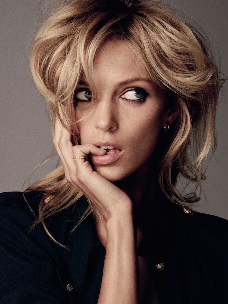 Anja Rubik stars in an editorial for ELLE Germany