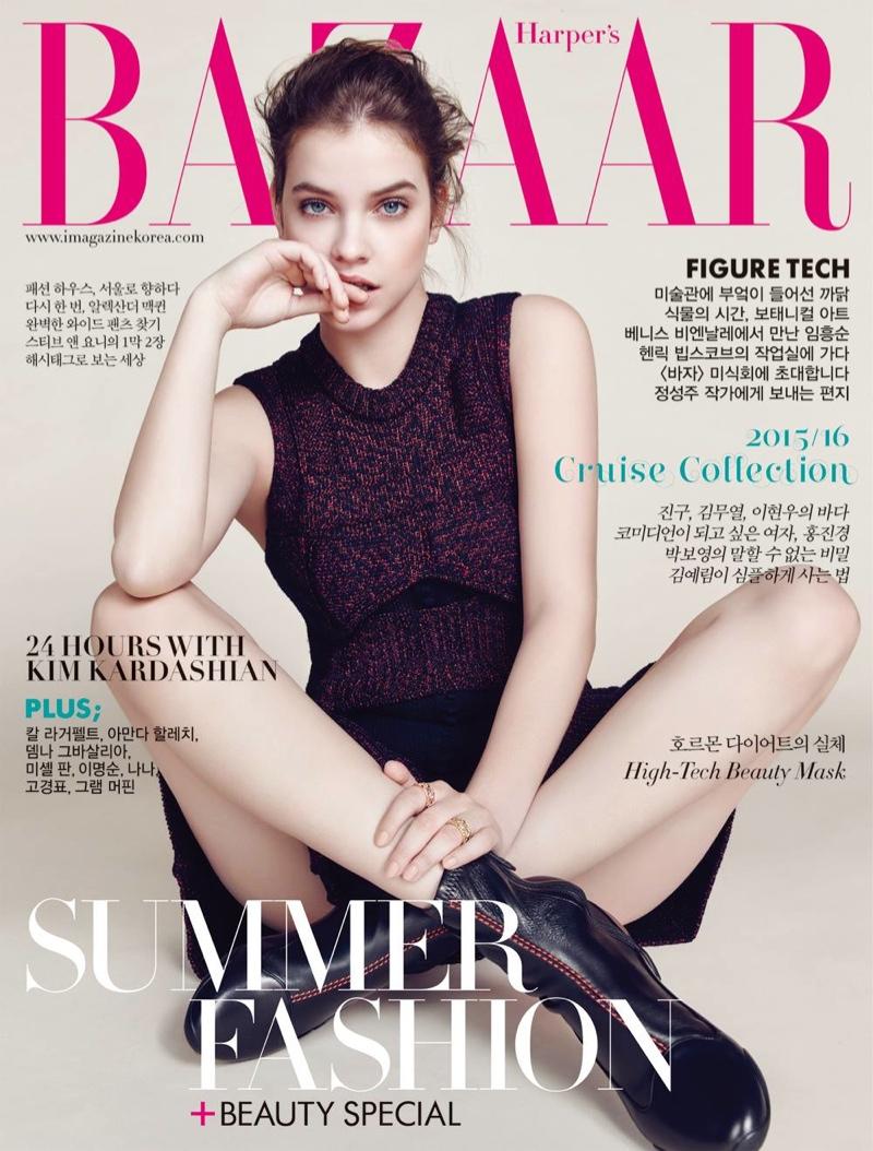 Barbara Palvin lands the June 2015 cover of Harper's Bazaar Korea
