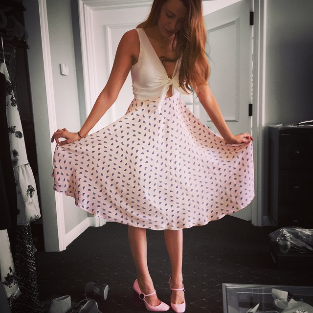 Blake Lively has turned dress designer for Preserve. Photo via Instagram.