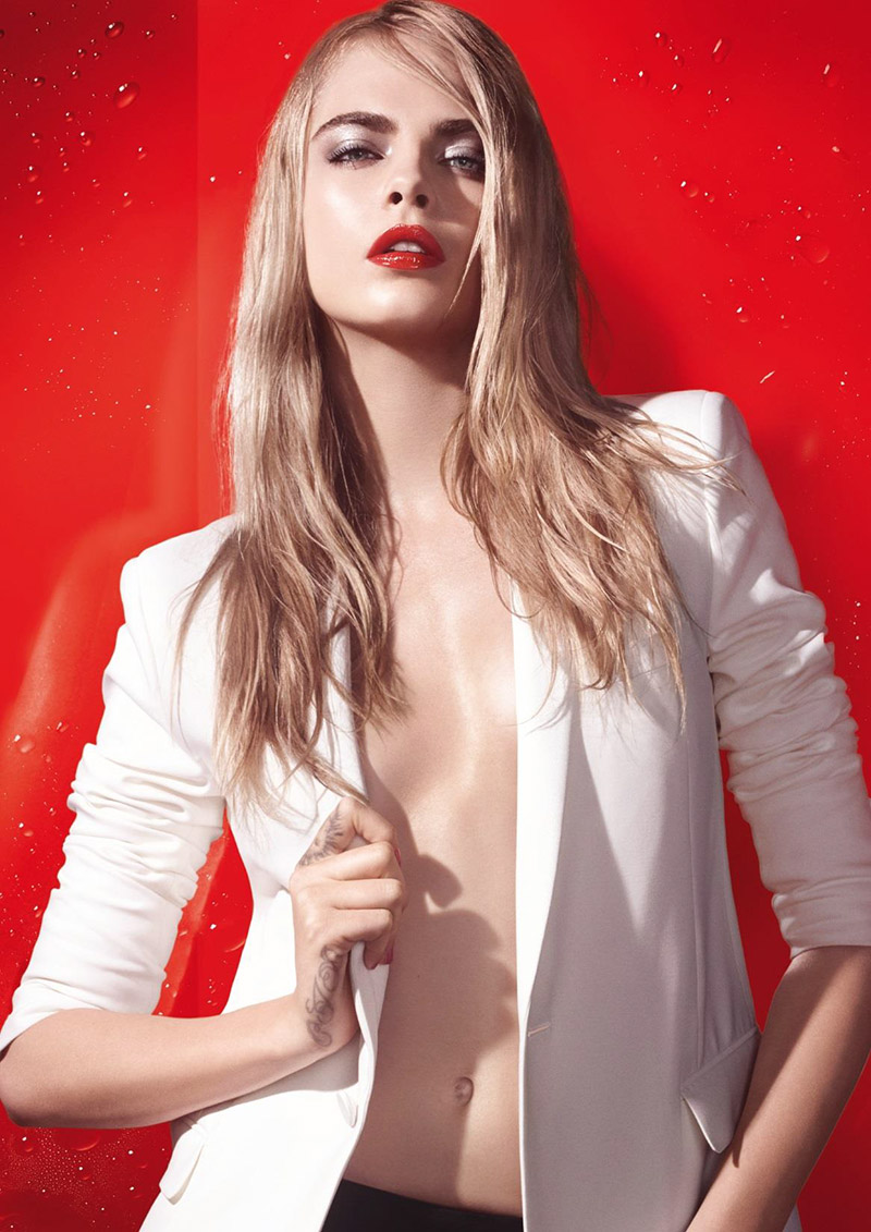 Cara Delevingne is Red Hot for New YSL Beauty Ad + Attends Cannes Party