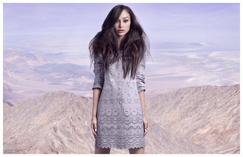 Cara Santana is chic in a ladylike dress.