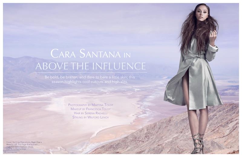 Cara Santana appears in a photo shoot for Line magazine