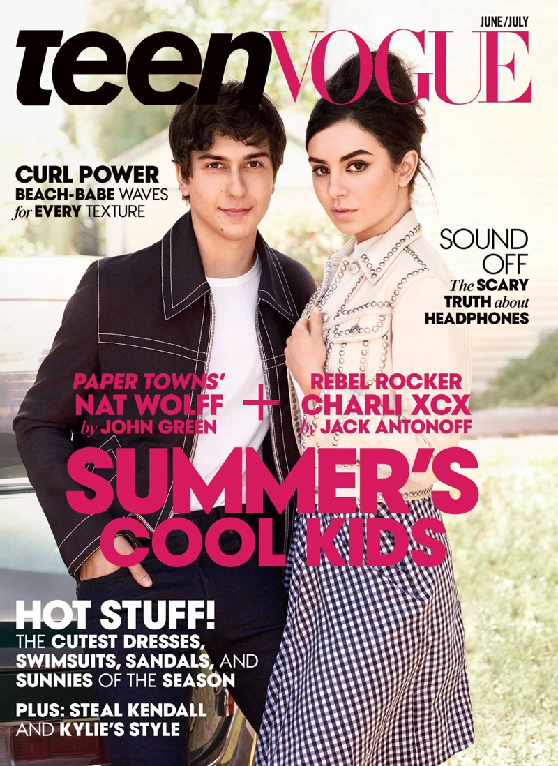 Charli XCX & Nat Wolff star on the June-July 2015 cover of Teen Vogue