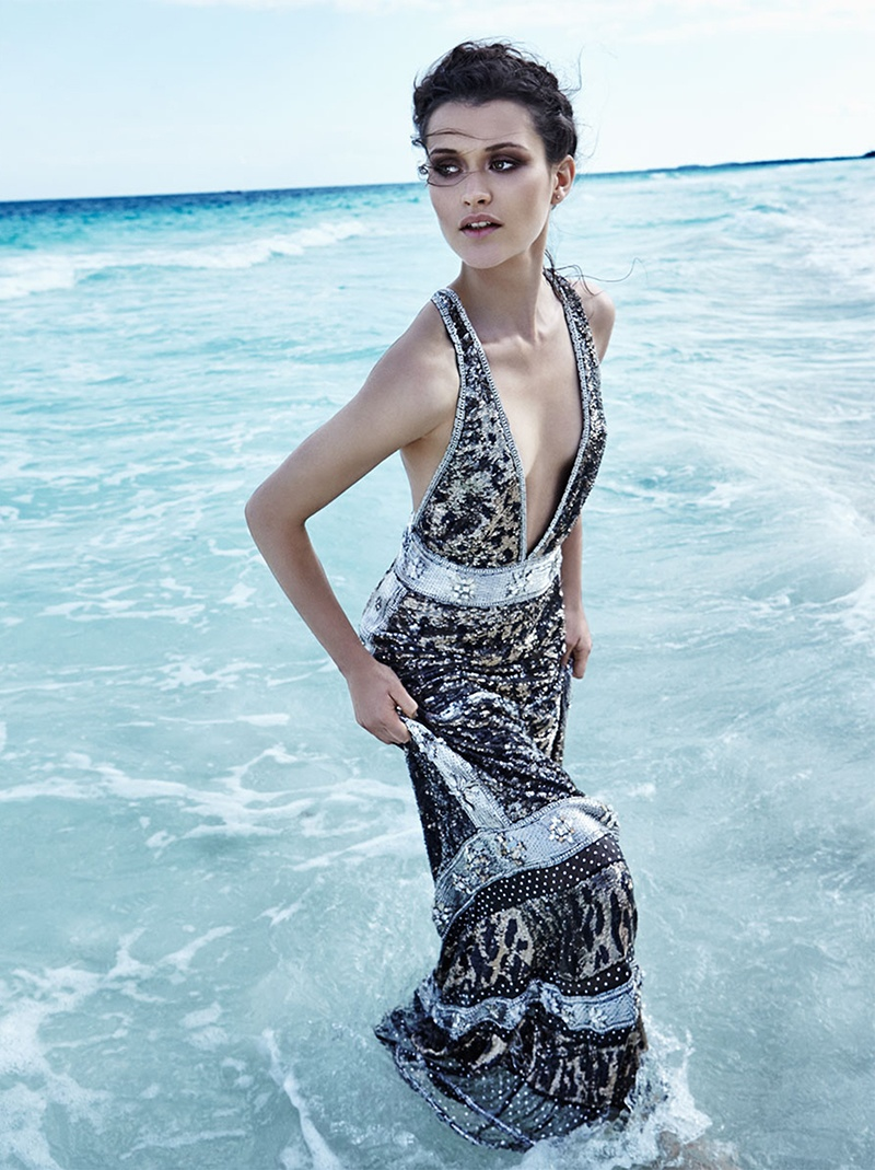 chloe lecareux models ethereal beach style for telva