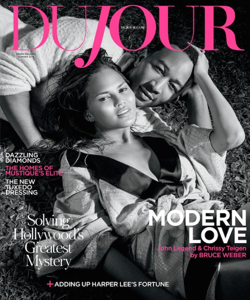 Chrissy Teigen & John Legend cover the summer 2015 issue of DuJour Magazine