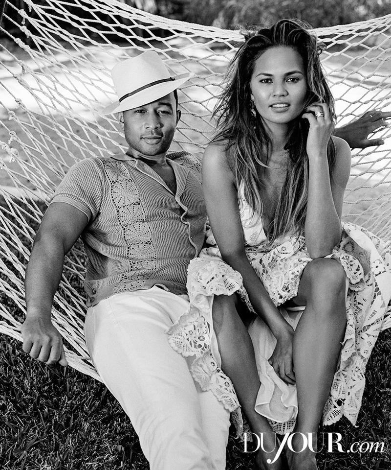 The husband and wife team pose for Bruce Weber in the photo shoot