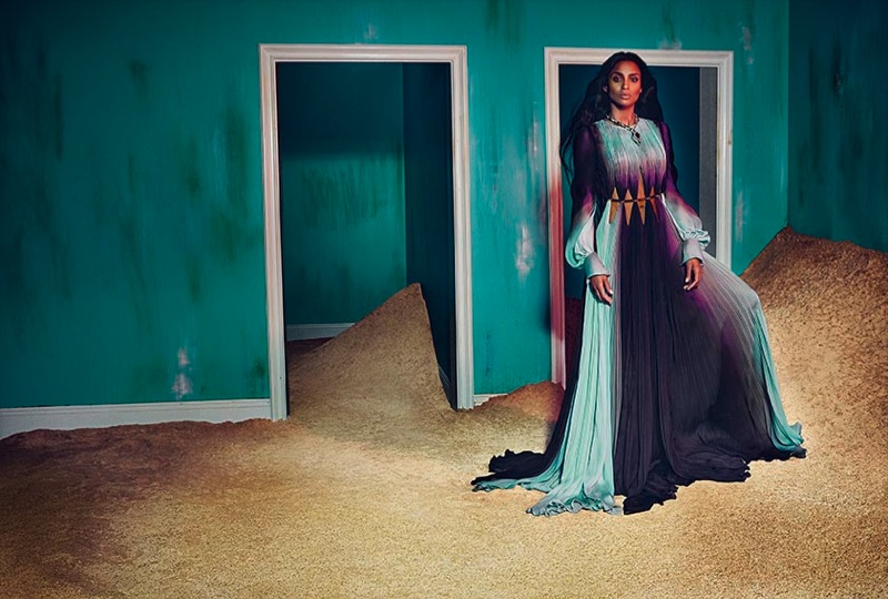 Roberto Cavalli enlisted R&B singer Ciara for its surreal fall-winter 2015 advertisements captured by Francesco Carrozzini.