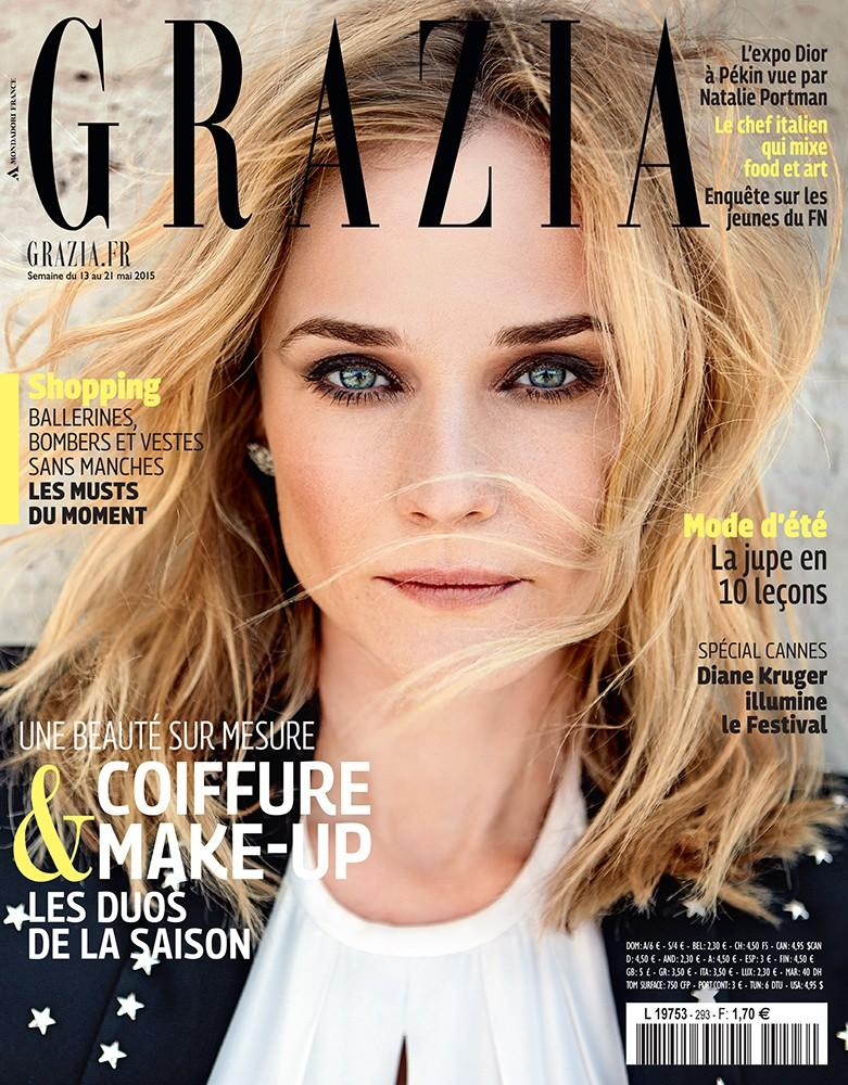 Diane Kruger covers the May 2015 issue of Grazia France