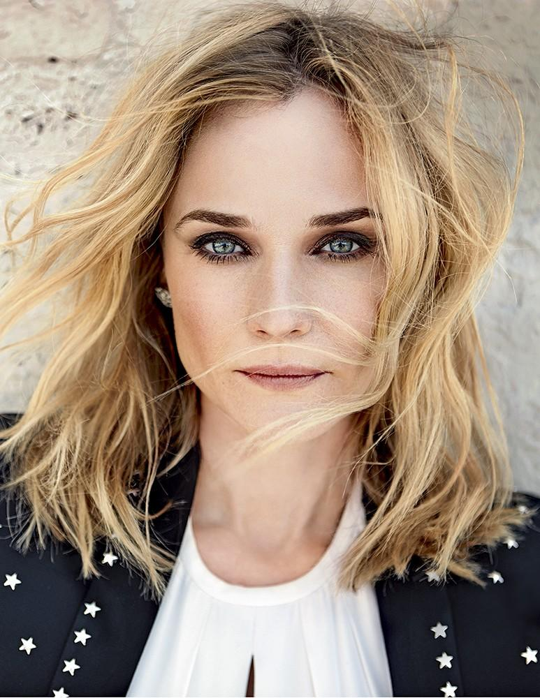 Diane Kruger delivers a smokey eye for her close-up.