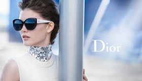 Diana Molodovan stars in Dior Eyewear advertisement photographed by Peter Lindbergh