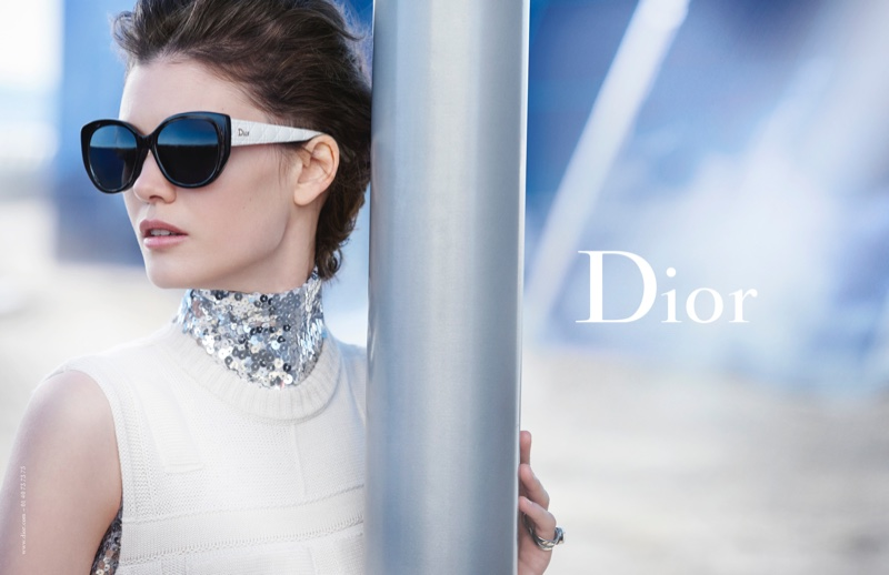 Diana Moldovan is Perfectly Ladylike in Dior Eyewear Campaign