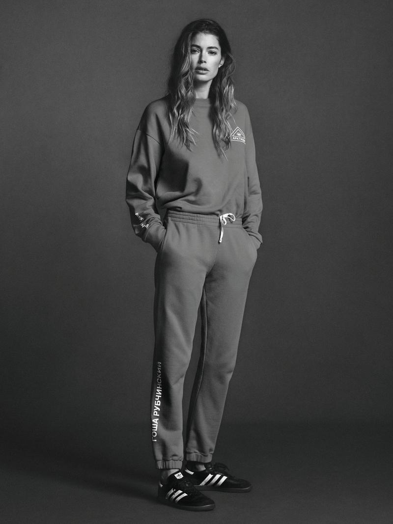 The Dutch model wears sporty, activewear inspired looks for the editorial