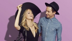 Campaign star Poppy Delevingne with designer Eddie Borgo. Photo via Target.