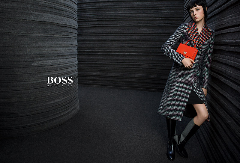 Edie Campbell stars in Hugo Boss fall-winter 2015 campaign