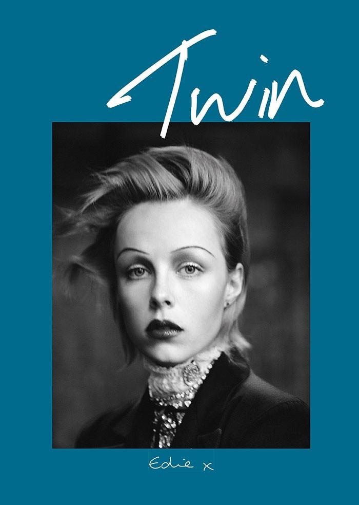 Edie Campbell stars on the spring-summer 2015 cover of Twin