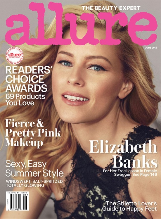Elizabeth Banks graces the June 2015 cover of Allure Magazine