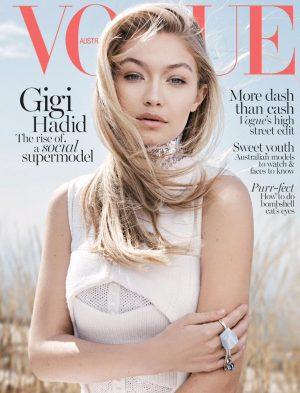 Gigi Hadid Covers June 2015 Vogue Australia