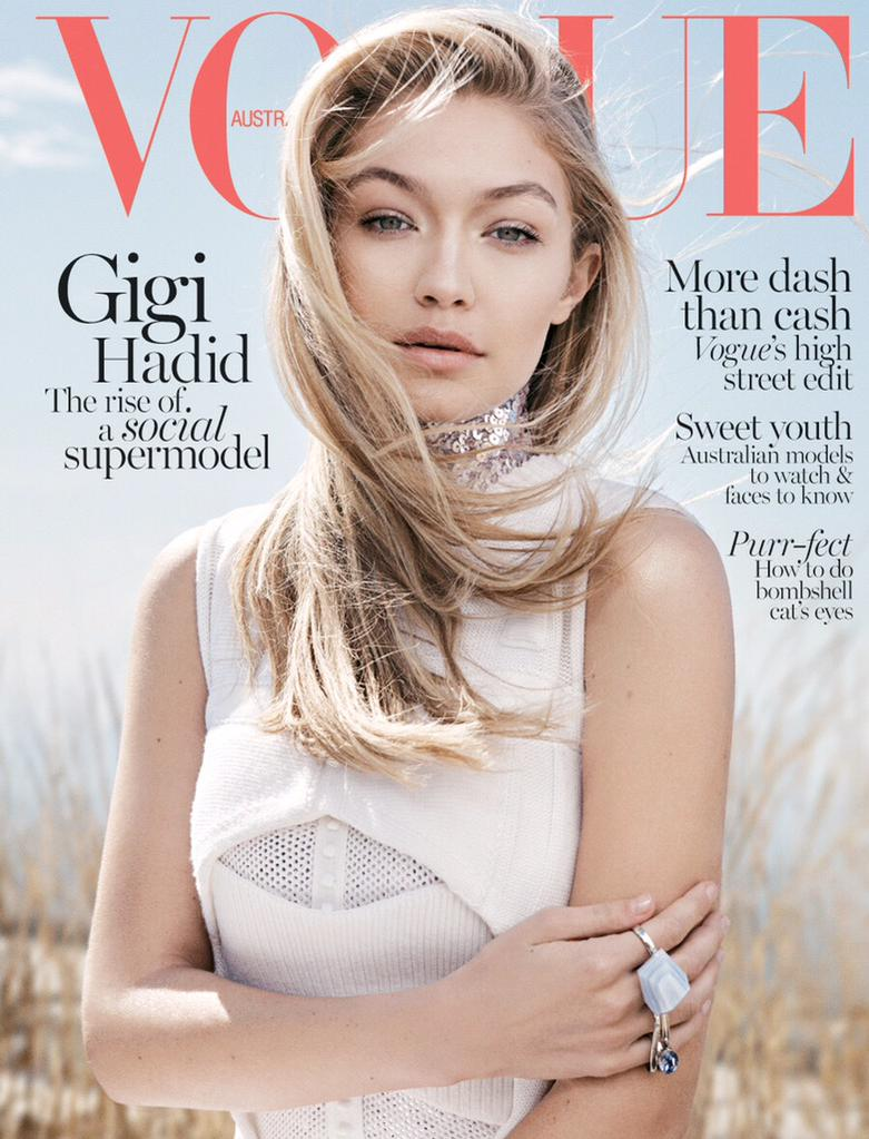 Gigi Hadid Covers June 2015 Vogue Australia