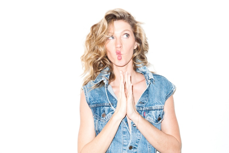 Gisele makes a funny face in this image