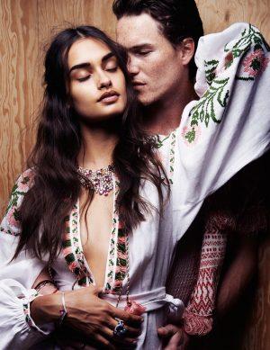 Lights of Love: Gizele + Johann Model Couples Jewelry in ELLE France
