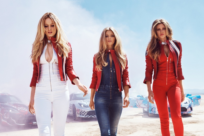 Guess Gets Racy with Denim Clad Models for Gumball 3000 Campaign