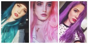 11 Photos of Halsey's Rainbow Hair: From Blue to Pink