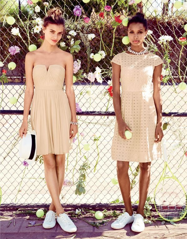 Bridesmaids Wear Short And Flirty Dresses From J Crew