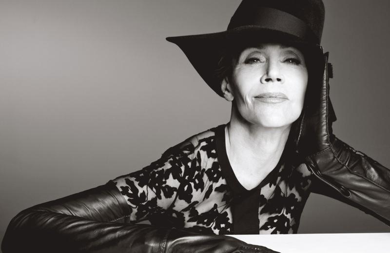 Jane Fonda poses for Steven Meisel in the photo shoot