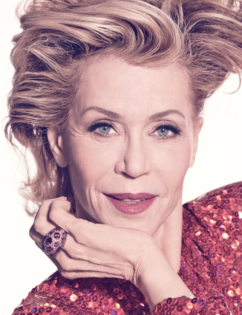 Jane talks to the magazine about being called a fashion icon at 77