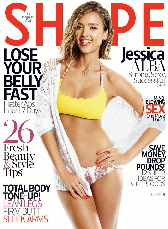 Jessica Alba graces the June 2015 cover of Shape Magazine