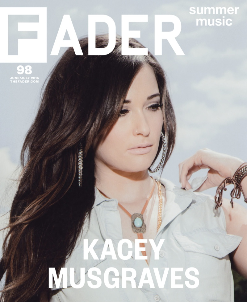 Kacey Musgraves stars on the June-July 2015 cover of Fader Magazine