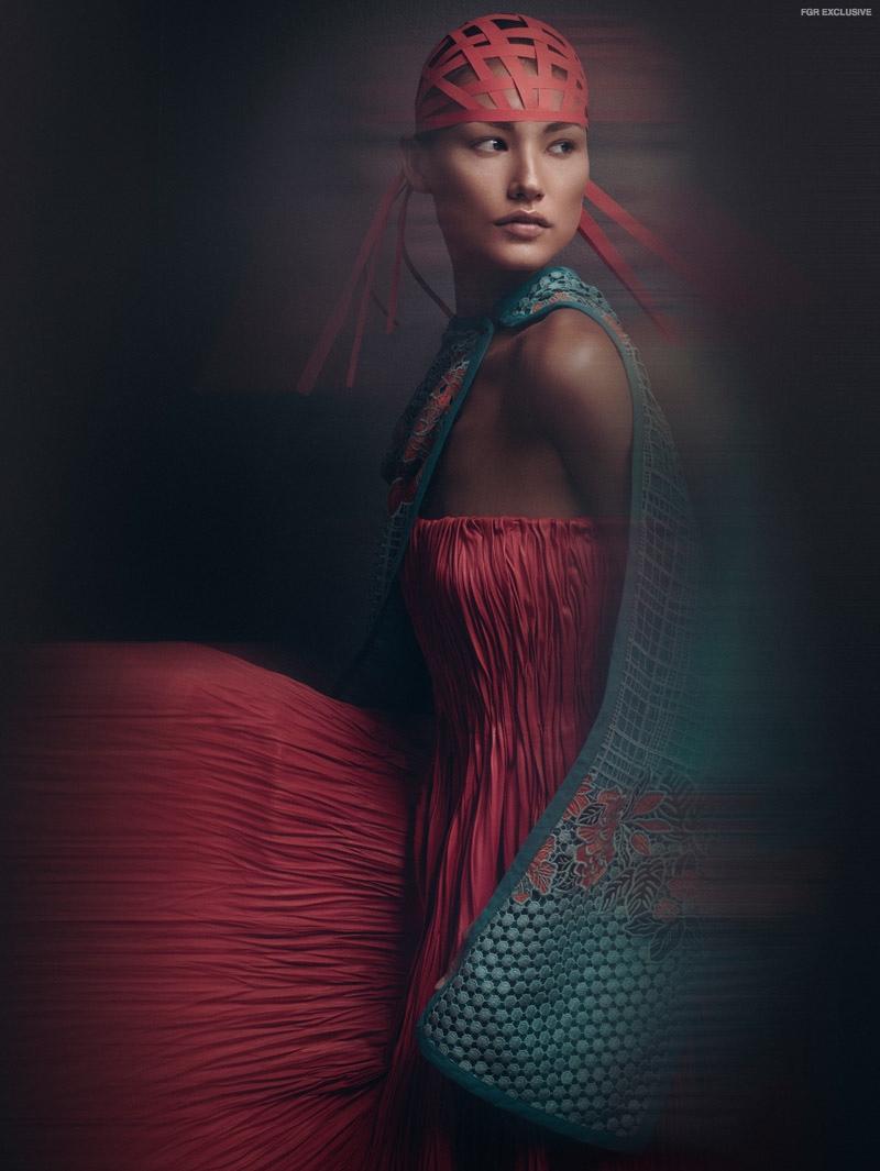 Dress Alexander McQueen, Jacket Etro