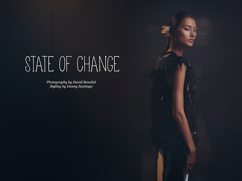 Kailey Hsu stars in 'State of Change' photographed by David Benoliel and styled by Danny Santiago