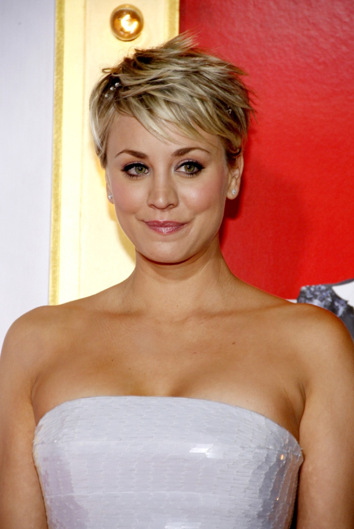 Kaley Cuoco Debuts Pink Eyebrows To Match Her Hair