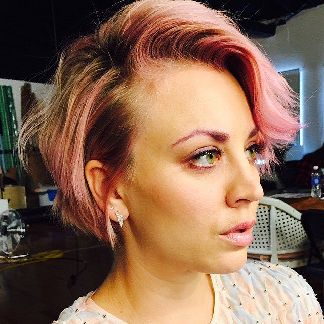 """The 'Big Bang Theory' actress captioned one of the images with, """"pink everything""""."""