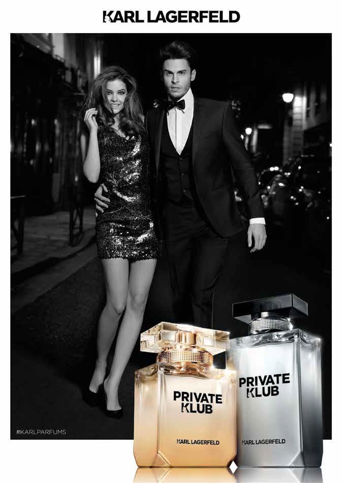 Barbra Palvin poses with Baptiste Giabiconi in Karl Lagerfeld 'Private Klub' fragrance ad