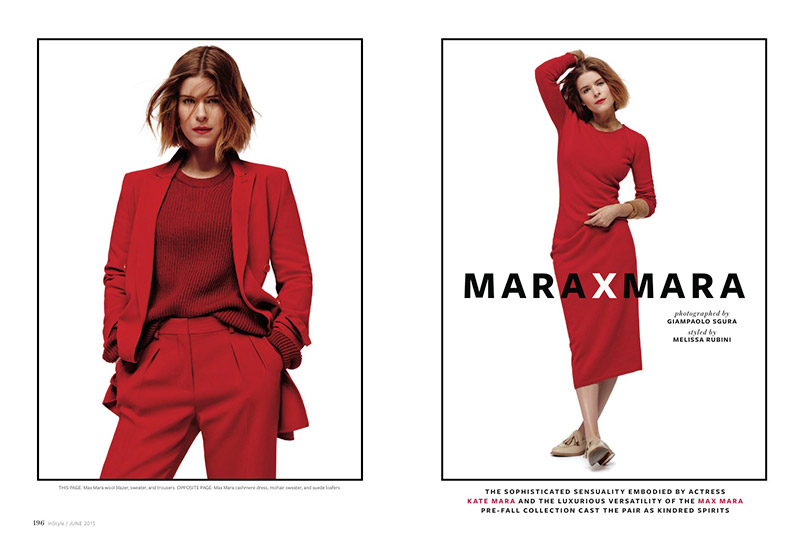 Kate Mara Wears All Max Mara in Red Hot InStyle Feature