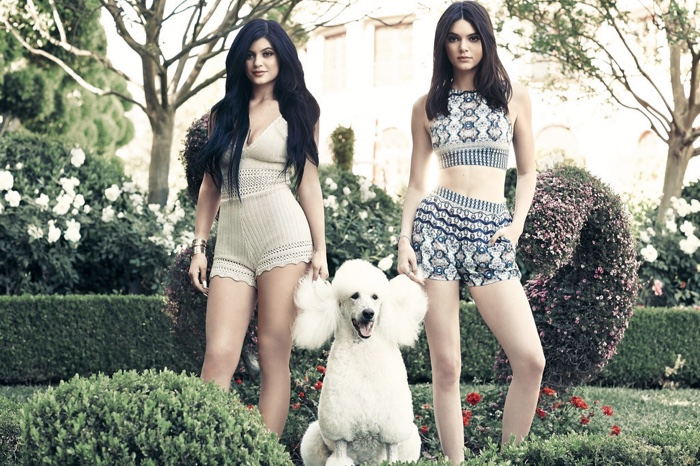 Kendall & Kylie Jenner Pose with Poodles, Rollerskate for New PacSun Shoot