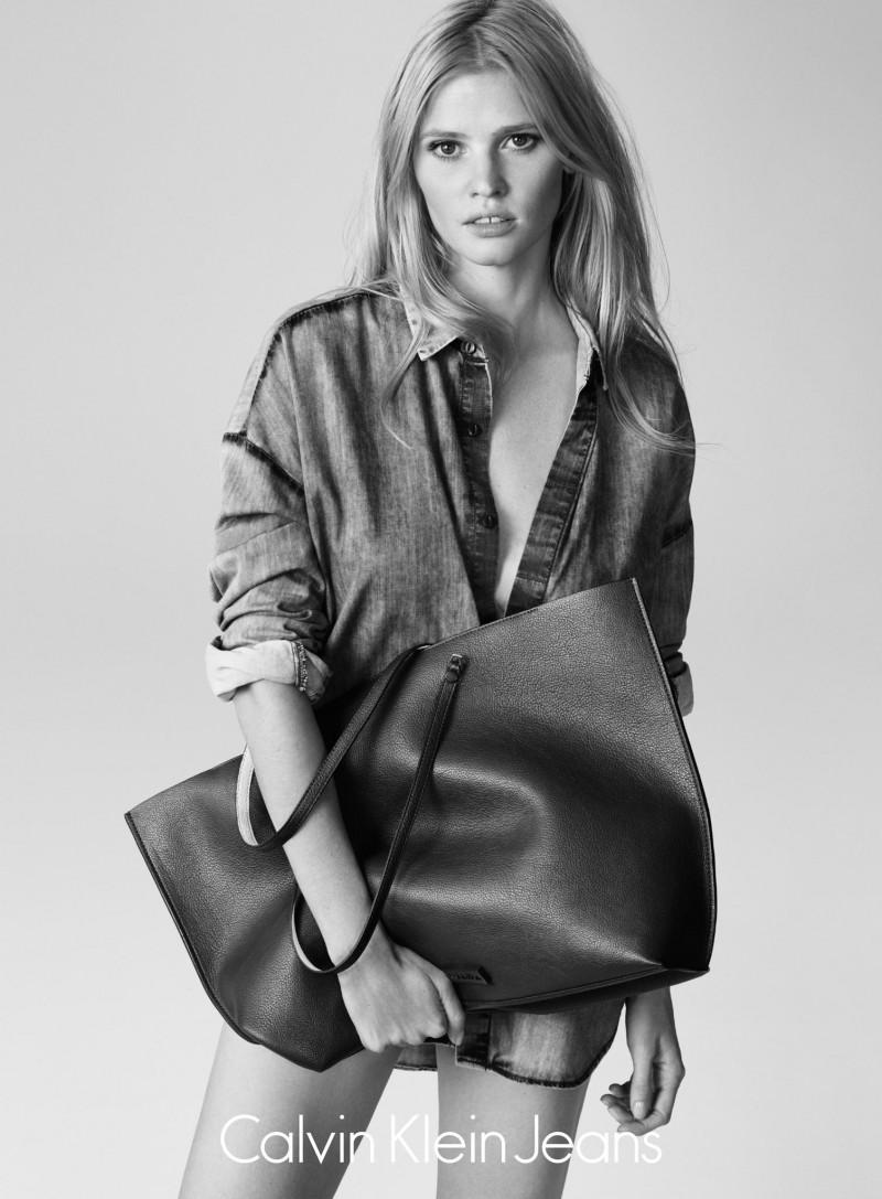 Lara Stone for Calvin Klein Jeans Summer 2015 Campaign