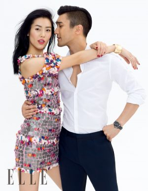 Liu Wen Cozies Up to Choi Siwon for Romantic ELLE China Cover Story