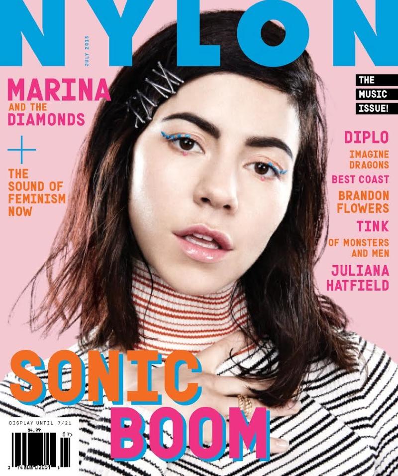 Marina Diamandis lands the June-July 2015 cover of NYLON Magazine