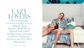 Marique Schimmel & Garrett Neff star in Harper's Bazaar Germany editorial photographed by Nagi Sakai