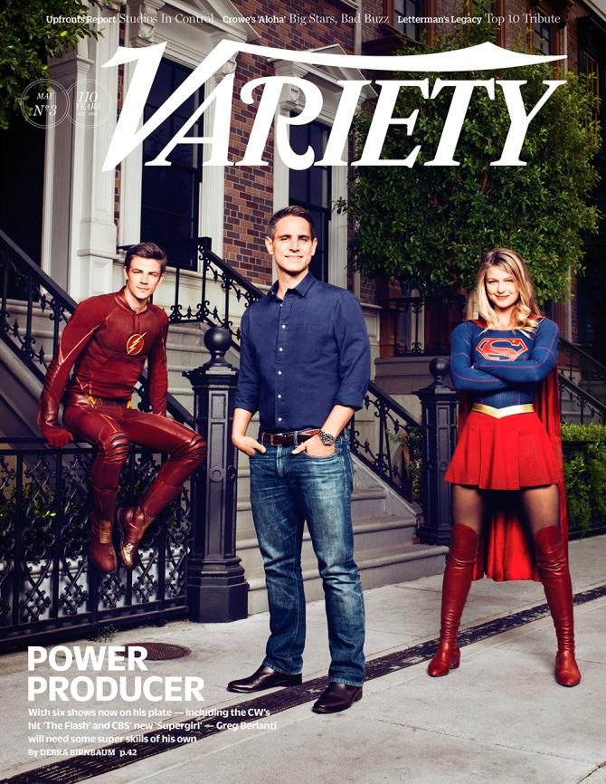 Grant Gustin, Greg Berlanti  and Melissa Benoist cover Variety Magazine