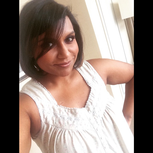"""Mindy Kaling likes her new bob haircut. """"Short hair, don't care,"""" she captioned one photo with on Instagram."""
