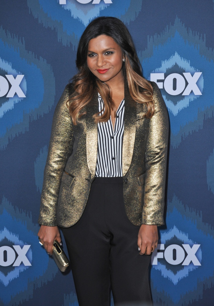 BEFORE: Mindy Kaling with long hair earlier this year. Photo: Jaguar PS / Shutterstock.com