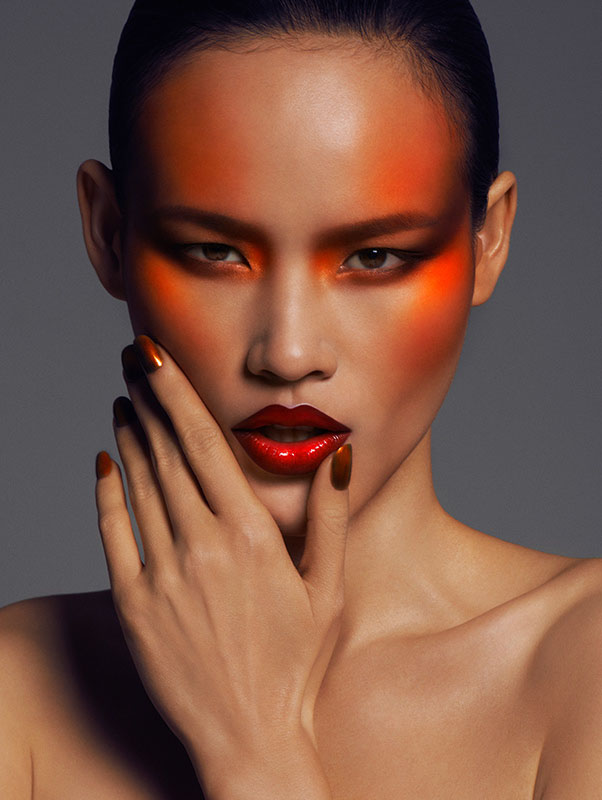 Makeup by Hung Vanngo.