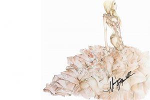 Karl Lagerfeld, Alexander Wang, More Designers Sketch Lady Gaga Wedding Dress Ideas