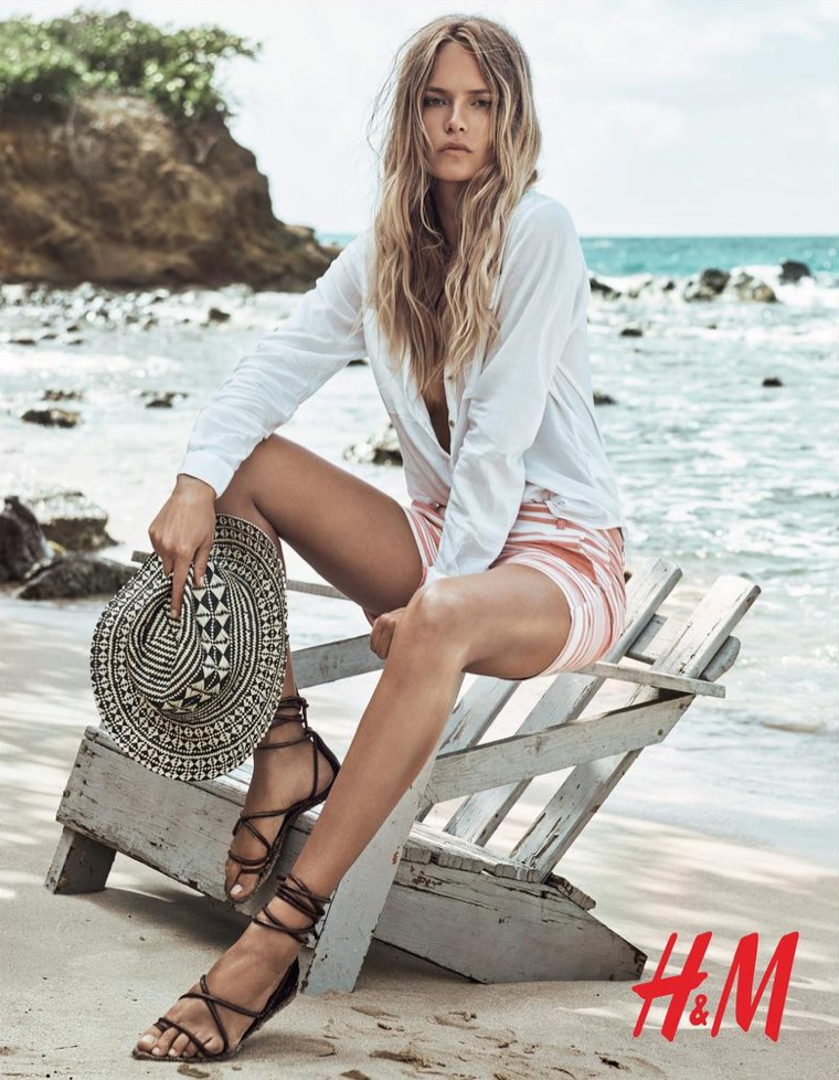Natasha Poly for HM Summer 2015 Beach Collection