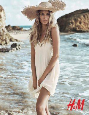 Natasha Poly is a Beach Beauty for H&M Summer Shoot