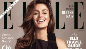 Nicole Trunfio poses with son Zion on ELLE Australia June 2015 cover